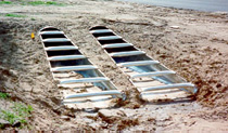 J&J Drainage Products offers safety slope end sections with parallel safety bars.