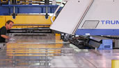 The J&J Drainage Products Trumpf machine offers one of the largest cutting platforms in North America.